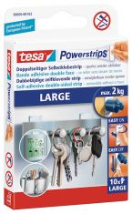 Tesa Powerstrips® Large, 10x Dubbelzijdige kleefstrips, tot 2 kg.