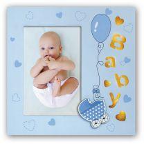 Fotolijst Baby Emilio Blauw met verlichting