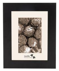Zwarte houten fotolijst met 45 mm breed profiel