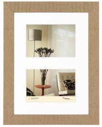 Multi Fotolijst Homme 2x10x15 beige bruin