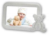 Verzilverde Fotolijst Baby Ornella met beer