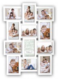 Witte Collagelijst voor 12 foto's van 10x15 cm