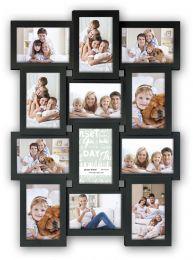 Zwarte Collagelijst voor 12 foto's van 10x15 cm