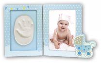 Fotolijst Baby Pollicino met gipsafdruk
