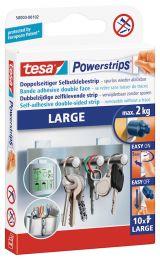 Tesa Powerstrips® Large, Dubbelzijdige kleefstrips, tot 2 kg.